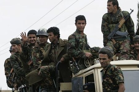 Houthi-fighters