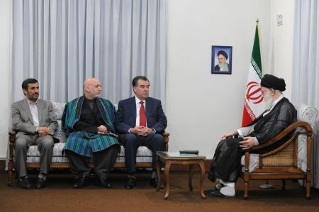 Khamenei-meeting-Afghan-and-Tajik-President