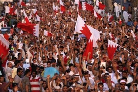 Bahrainis stage mass anti-regime demo