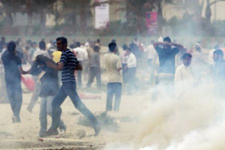 Stun rounds used on Bahraini protesters