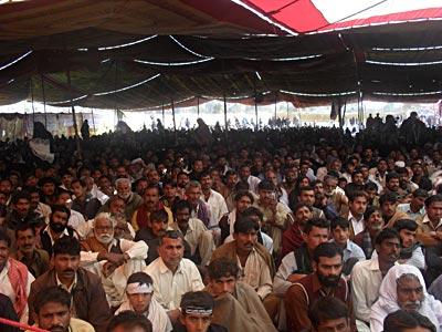 shiitenews Chehlum of Khanpur terrorism A mammoth congregation was held