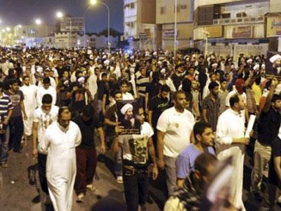 Saudia shia protestres