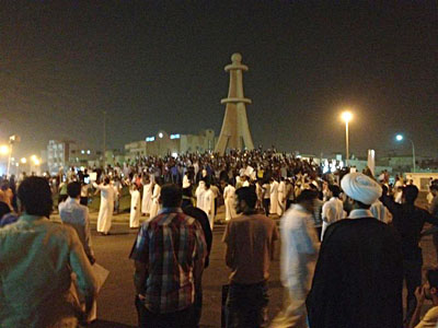 shiitenews Protesters-towards-Qatif
