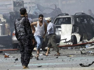 iraq blast fourtenn killed