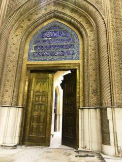 The door to his shrine