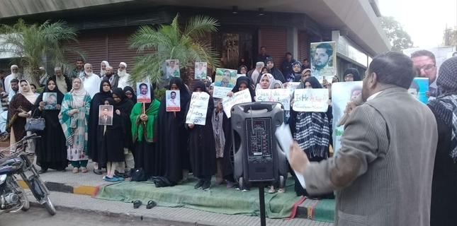 Families hunger strike for missing Shia Muslims at Karachi Press Club
