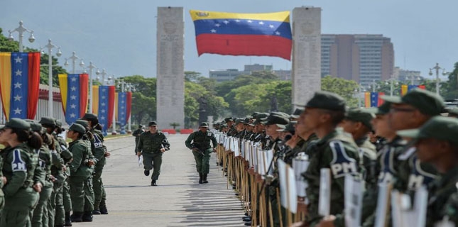 Venezuela military backs Maduro