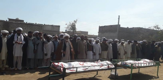 Shia Martyrs laid to rest after funeral prayers in DI Khan