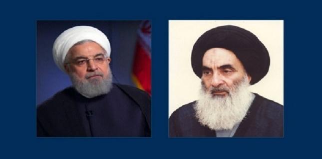 Iranian President Rouhani meets with Grand Ayatollah Sistani in Najaf