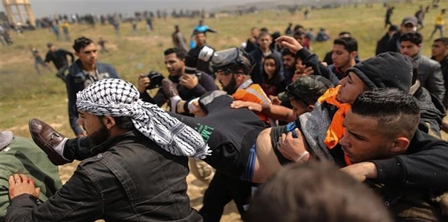 Zionist forces open fire at Palestinian protesters in Gaza