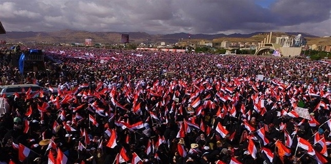 Thousands of Yemeni Women stage rally to condemn Saudi Aggression
