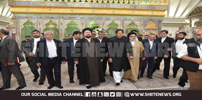 imran khan imam khomeini shrine
