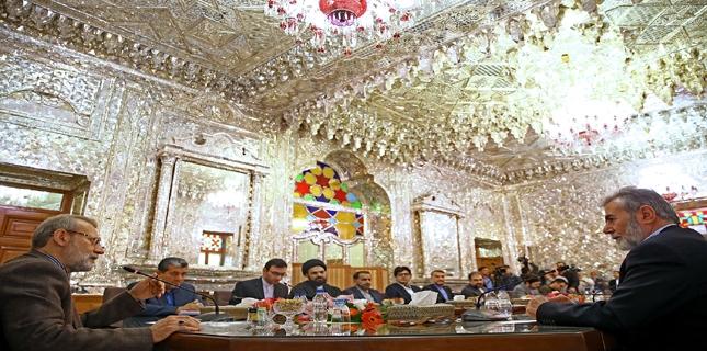 Palestinian Islamic Jihad leader meets Iran Parliament Speaker in Tehran