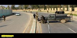 Iraq PMU fighters stop US military patrol in Mosul