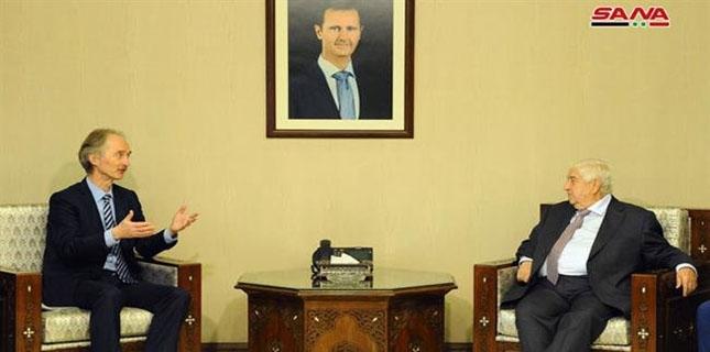 New UN Syria Envoy Geir Pedersen meets FM Muallem in Damascus
