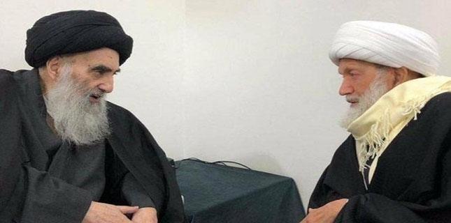 Top Bahraini leader Sheikh Isa Qassim meets Ayatollah Sistani in Najaf