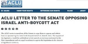 ACLU asks pro-Israel US Senators to read the Constitution