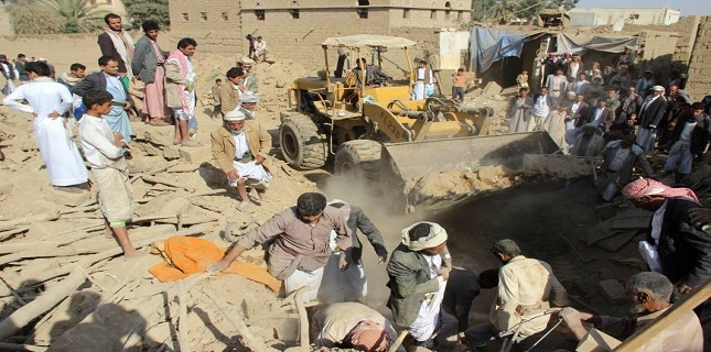 Saudi airstrike target civilian house