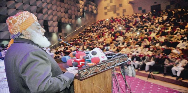 JUI-F chief accuses PTI government of protecting Jewish lobby