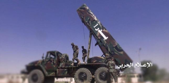 Yemeni Badr-1 Ballistic missile hits Saudi mercenaries gatherings