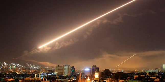 Syria air defense system intercepts most of Israeli missiles fired on Damascus