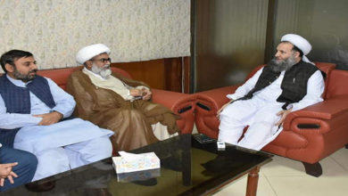 Allama Raja Nasir talks to Minister
