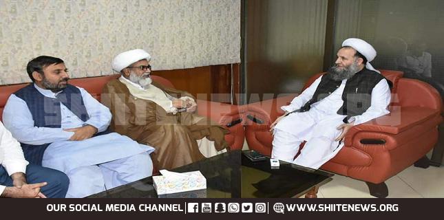 Allama Raja Nasir talks to Minister