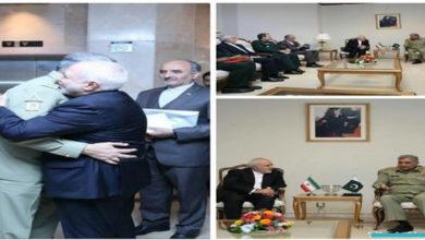 Javad Zarif meets Pak Army Chief