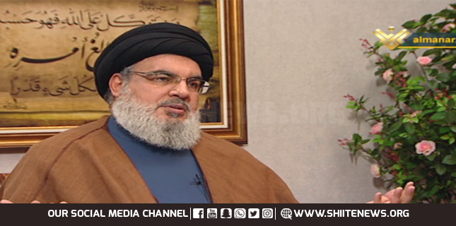 Hasan Nasrallah interview Lebanon