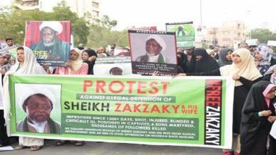 Free Zakzaky Movement protest demo