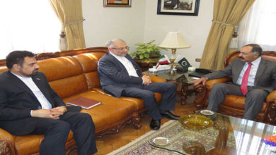 Assistant to Iranian Foreign Minister and Director General West Asia at Iran's ministry of foreign affairs Seyed Rasoul Mousavi met ministers in Islamabad visit.