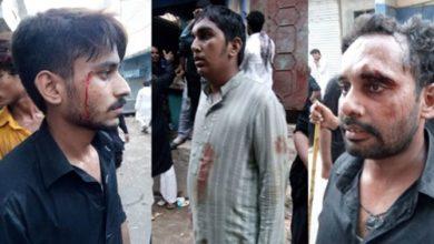 azadars sit in Lahore