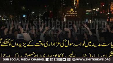 Followers of Yazid in police attack azadars in Pakistan