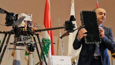 Lebanon exhibits drones, Israeli drones