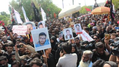Missing Shias protest Ashura