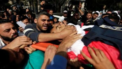 Funeral held for Palestinian who died of wounds from Gaza clashes