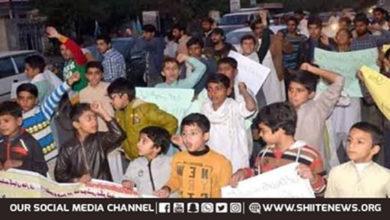 Shia missing persons families