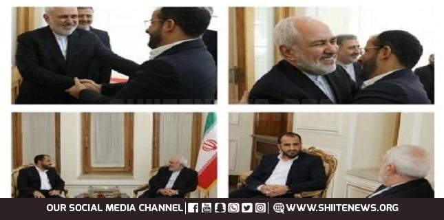 Iranian foreign minister Zarif meets Ansarullah spokesman