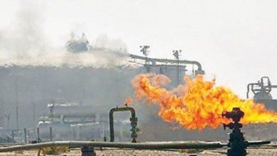 Gas pipeline blown up