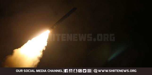 Ballistic missile over Riyadh