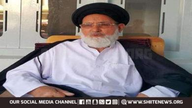 Allama Abid Hussaini blames ministers