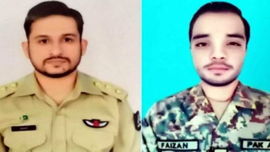 Two pilots martyred in Pakistan
