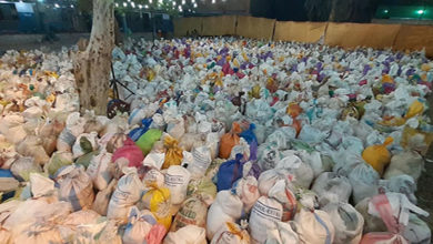 Shia organizations provide food items