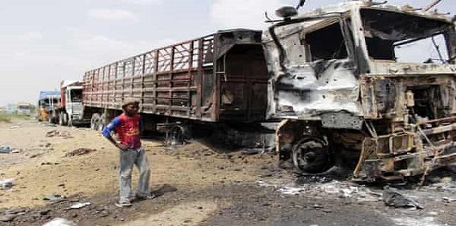 Saudi jets destroyed 11 trucks