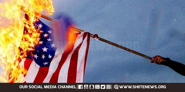 burn American flag