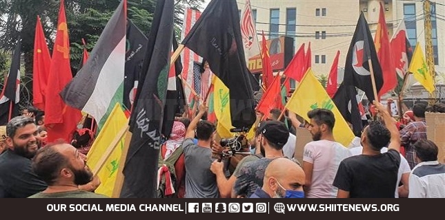 Protesters in Beirut