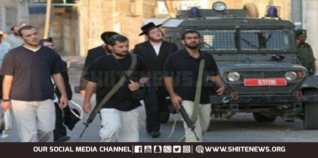Armed Israeli settlers