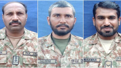 Three soldiers of Pakistan Army martyred in terrorist attack
