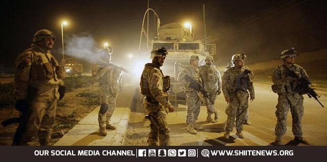 US-led military convoy