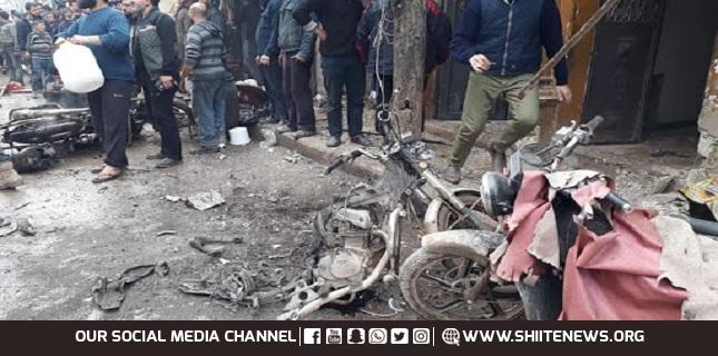 bomb in Aleppo